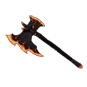 """Vintage Flaming Power Axe"""